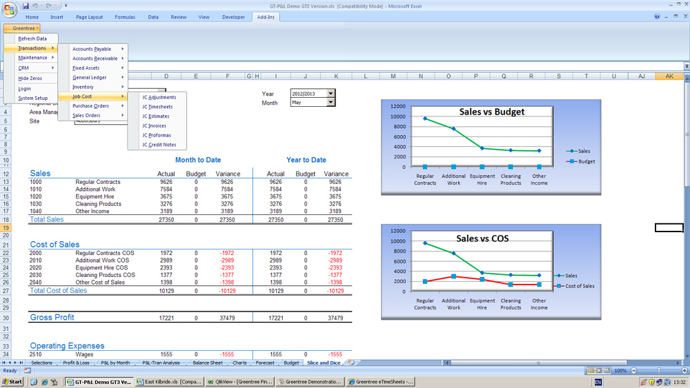 Greentree Financial Reporting Engine in Excel (F.R.E.E.)