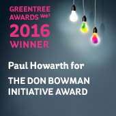 Greentree Don Bowman Initiative Award Winner Paul Howarth