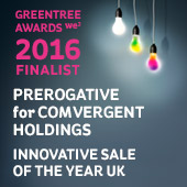 Greentree Innovative Sale Award FInalist 2016 for Comvergent Holdings